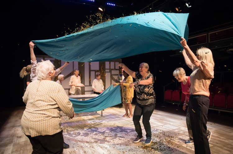 Production photo from our Elder Company show Behind the Net Curtains