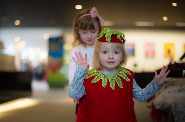 Children dressing up at Family Fun day