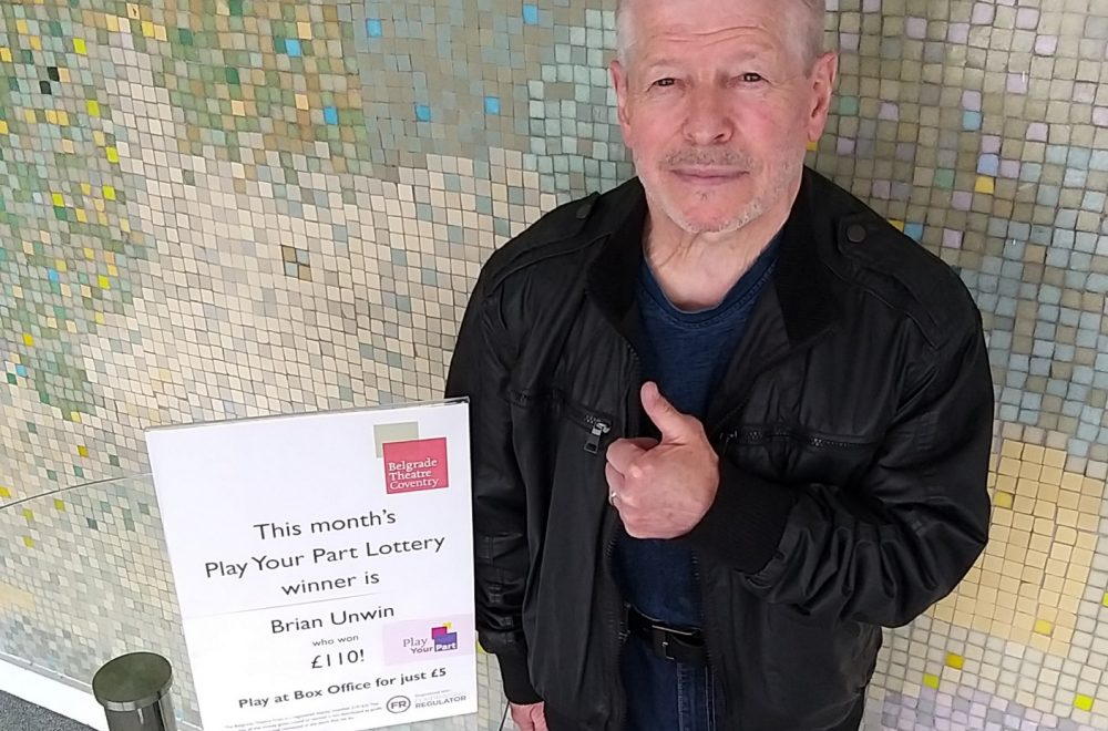 June 2019 Play Your Part lottery winner Brian Unwin