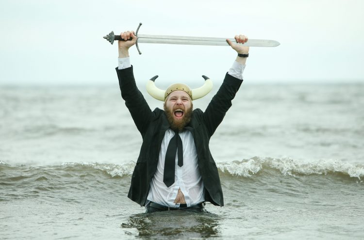 Picture Toby Williams 07920841392. James Rowland Who is appearing in Team Viking at The Edinburgh Festival.