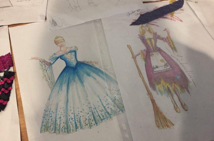 Cinderella - panto costume designs by Mark Walters