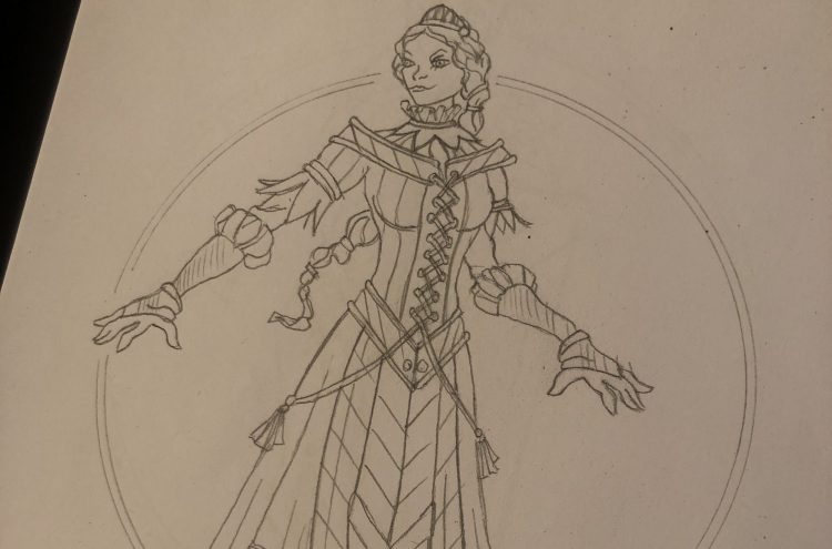 Princess Sophia - Puss in Boots costume design by Mark Walters