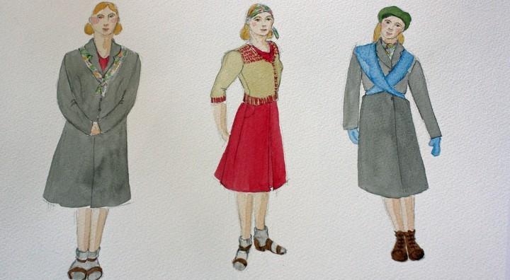 The Silver Sword costume designs by Lotte Collett