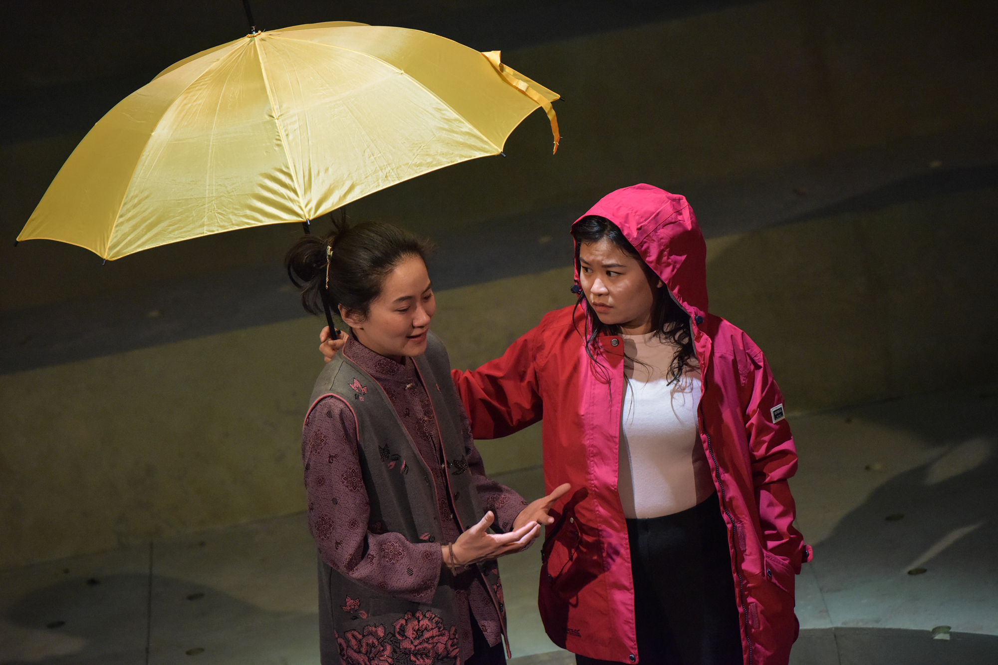 Charlotte Chiew and Mei Mac in Under the Umbrella