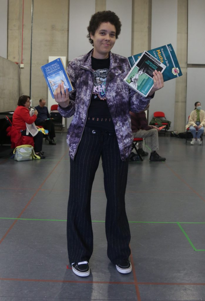 Underground Lights member Bengy with books