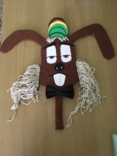 Dylan D Rabbit mask, created by Belgrade Arts Gym member Eric