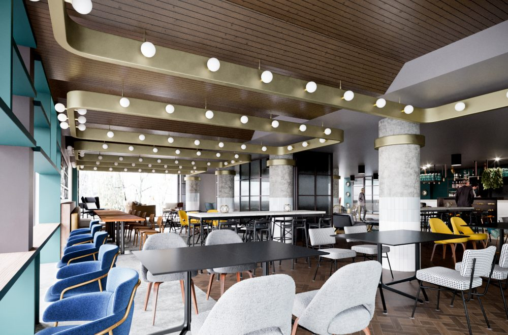 Artist impression of the new cafe space, thanks to Corstorphine+Wright Architects