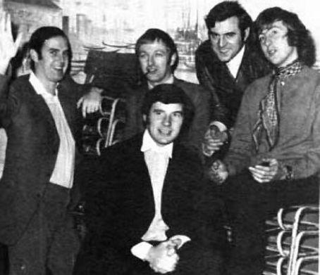 (L-R) John Cleese, Michael Palin, Graham Chapman (behind), Terry Jones, Eric Idle