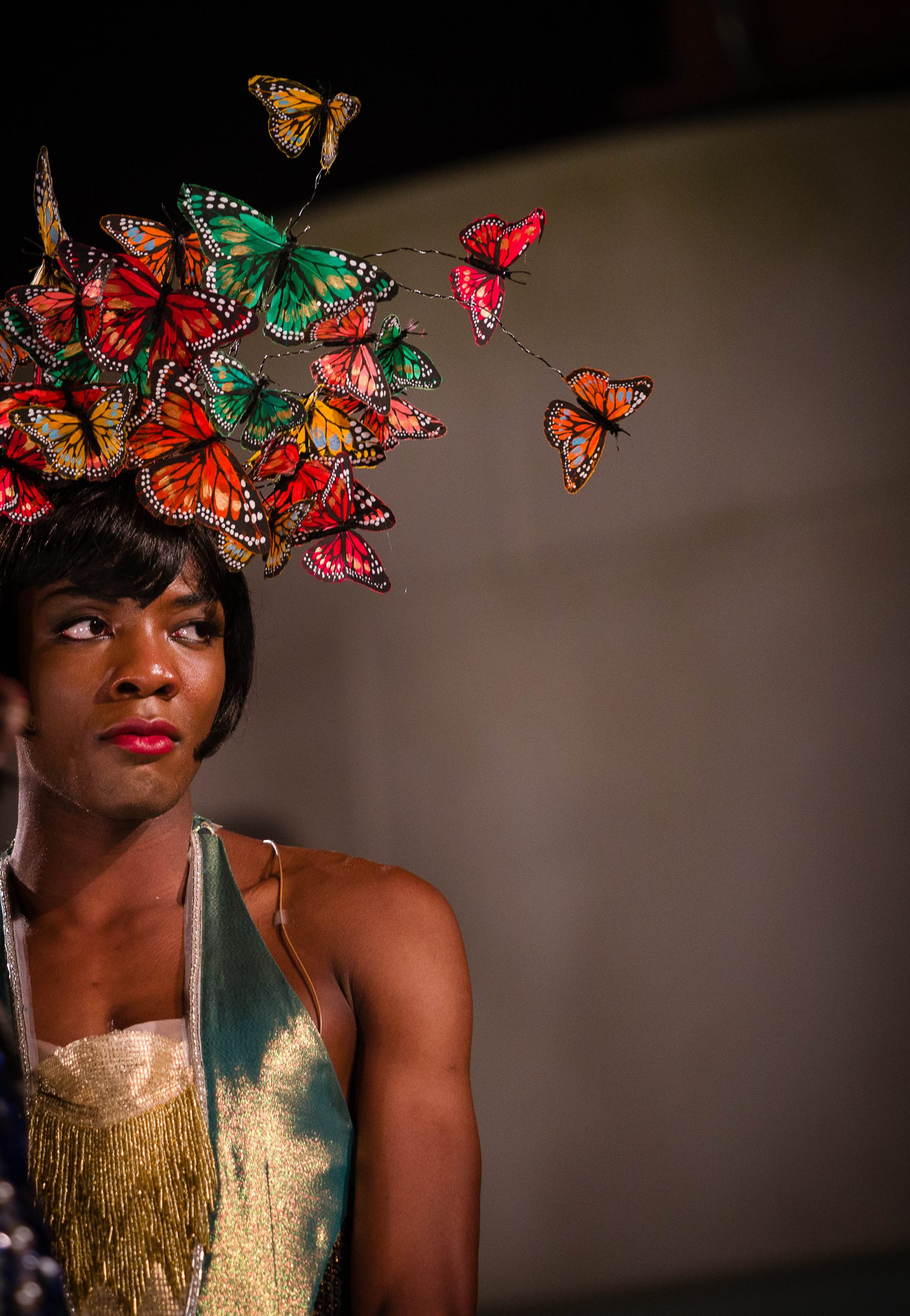 Omari Douglas as showgirl, Nora Chance, in Wise Children