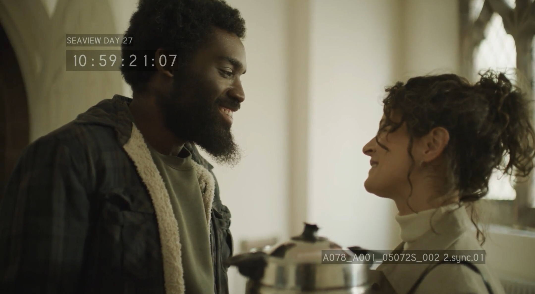Corey Campbell (Director) and Agatha Elwes (playing Nia)
