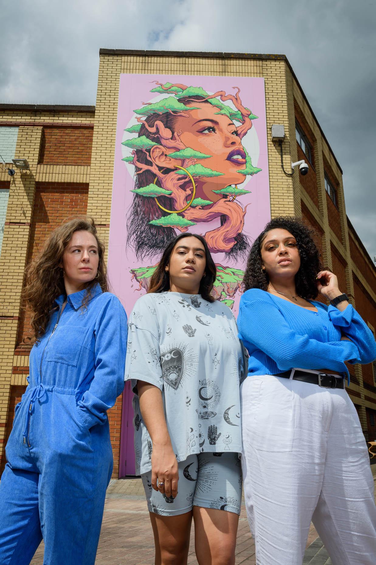 (L-R) Frankie Meredith, Balisha Karra and Yasmin Dawes