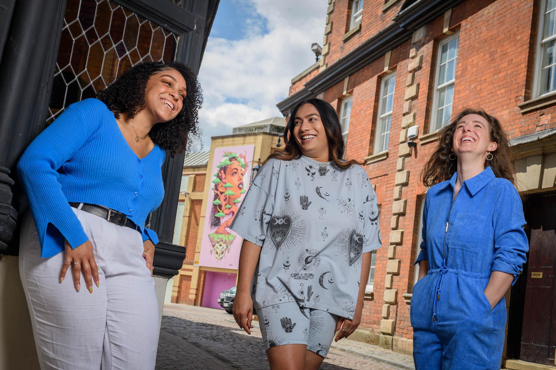 (L-R) Yasmin Dawes, Balisha Karra and Frankie Meredith